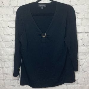 Cable & gauge black sweater Double ring detailing